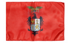 Drapeau Italie Province de Palerme avec ourlet
