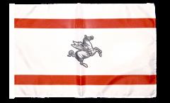 Drapeau Italie Toscane avec ourlet