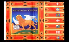 Drapeau Italie Vénétie avec ourlet