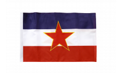 Drapeau Yougoslavie ancien avec ourlet