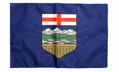 Drapeau Canada Alberta avec ourlet