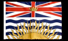 Drapeau Canada Colombie-Britannique avec ourlet
