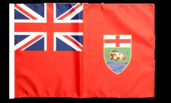 Drapeau Canada Manitoba avec ourlet