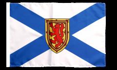 Drapeau Canada Nouvelle-Écosse avec ourlet