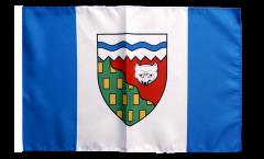 Drapeau Canada Territoires-du-Nord-Ouest avec ourlet