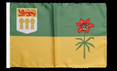 Drapeau Canada Saskatchewan avec ourlet