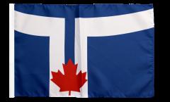 Drapeau Canada Toronto avec ourlet