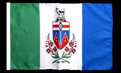 Drapeau Canada Yukon avec ourlet