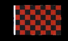 Drapeau Damier Rouge-Noir avec ourlet