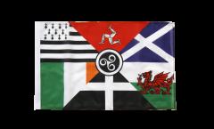 Drapeau Pays Celtique Panceltique avec ourlet