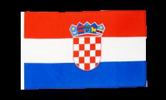 Drapeau Croatie avec ourlet