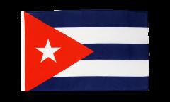 Drapeau Cuba avec ourlet