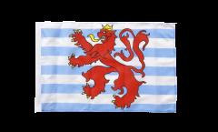 Drapeau Luxembourg Lion avec ourlet