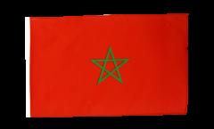 Drapeau Maroc avec ourlet