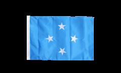 Drapeau Micronésie avec ourlet