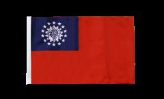 Drapeau Myanmar 1974-2010 avec ourlet