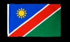 Drapeau Namibie avec ourlet