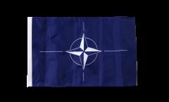 Drapeau OTAN avec ourlet