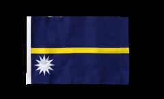 Drapeau Nauru avec ourlet