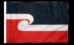 Drapeau Nouvelle-Zélande Maori avec ourlet