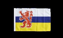 Drapeau Pays-Bas Limbourg avec ourlet