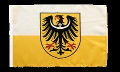 Drapeau Basse-Silésie avec ourlet