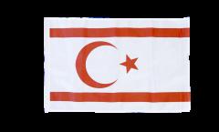 Drapeau Chypre du Nord avec ourlet