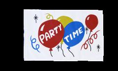 Drapeau Party Time avec ourlet
