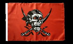 Drapeau Pirate rouge avec ourlet