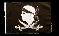Drapeau Pirate Corse avec ourlet