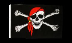 Drapeau Pirate avec foulard avec ourlet