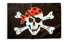 Drapeau Pirate one eyed Jack avec ourlet