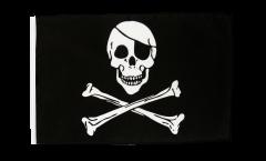 Drapeau Pirate avec ourlet