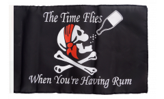 Drapeau Pirate Rhum avec ourlet