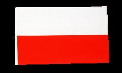 Drapeau Pologne avec ourlet