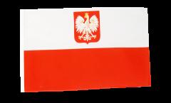 Drapeau Pologne avec aigle avec ourlet
