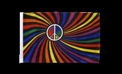 Drapeau Arc en Ciel Peace Swirl - 30 x 45 cm