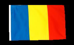 Drapeau Roumanie avec ourlet