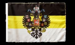 Drapeau Russie Romanow avec blason 1858-1883 avec ourlet