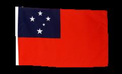 Drapeau Samoa avec ourlet