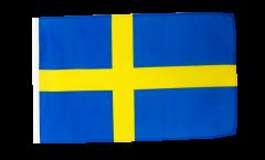 Drapeau Suède avec ourlet