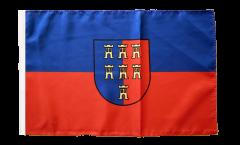 Drapeau Saxons de Transylvanie avec ourlet
