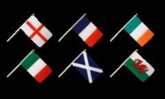 Kit Drapeaux Tournoi des Six Nations sur hampes - 30 x 45 cm