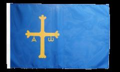 Drapeau Espagne Asturies avec ourlet