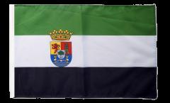 Drapeau Espagne Estrémadure avec ourlet