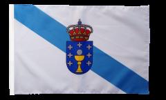 Drapeau Espagne Galice avec ourlet