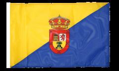 Drapeau Espagne Grande Canarie avec ourlet