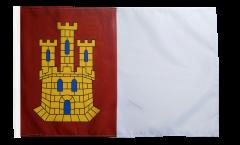 Drapeau Espagne Castille-La-Manche avec ourlet
