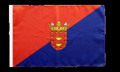 Drapeau Espagne Lanzarote avec ourlet