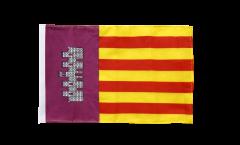 Drapeau Espagne Majorque avec ourlet